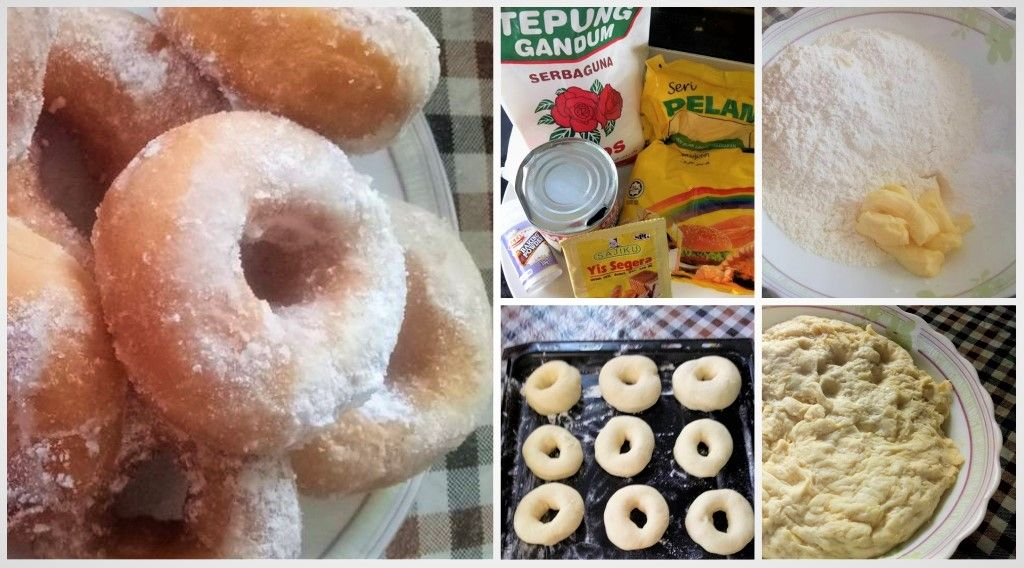 Resepi Donut Tanpa Uli Tapi Lembut Sampai Ke Pagi Resepi Donut Donuts Food
