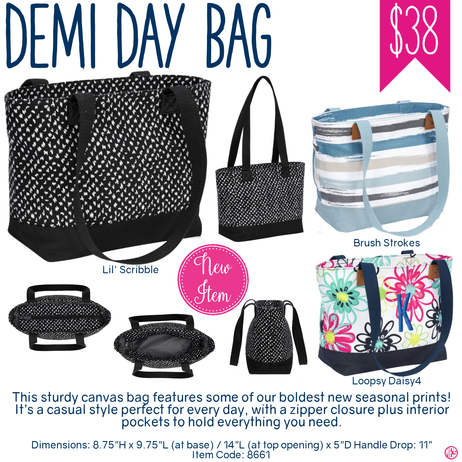 Oh snap bin ideas - Thirty One Demi Day Bag Purchase Spring Summer 2017