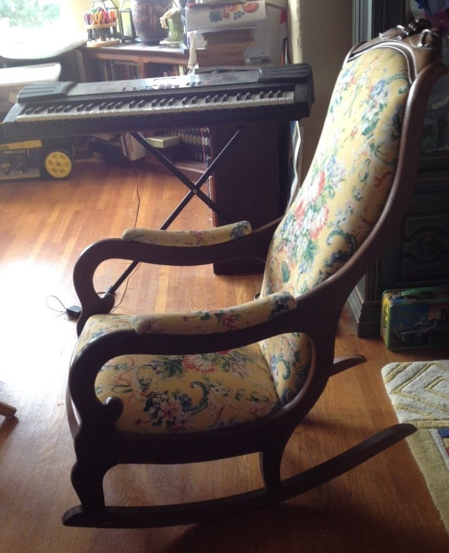 Antique Rocking Chair 1930s Carved Wood | 150