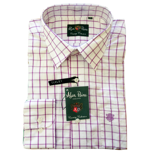 68b1fd3b59ccc Mens Cotton Ilkley Shirt from Alan Paine £39.99 | Alan Paine ...