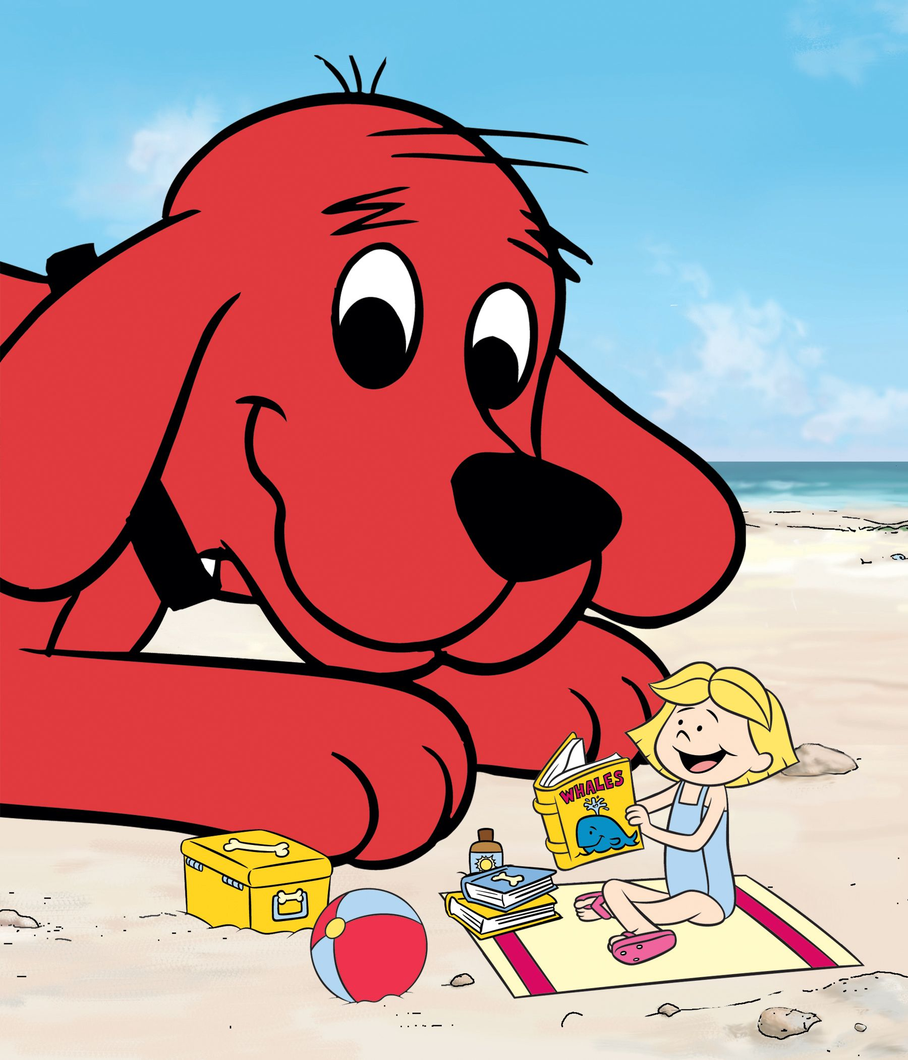 Clifford and Emily Elizabeth had a blast at the beach this ...