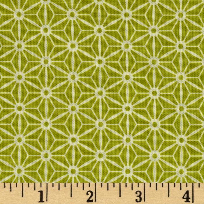 Riley Blake Sidewalks Geometric Green