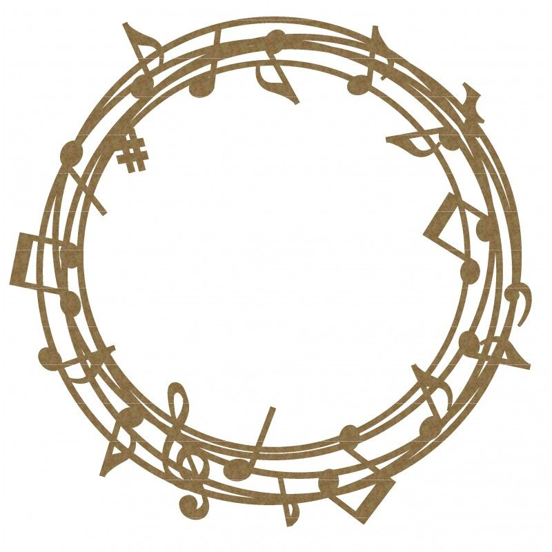 Music Note Frame 2 silhouette Frames and wreaths