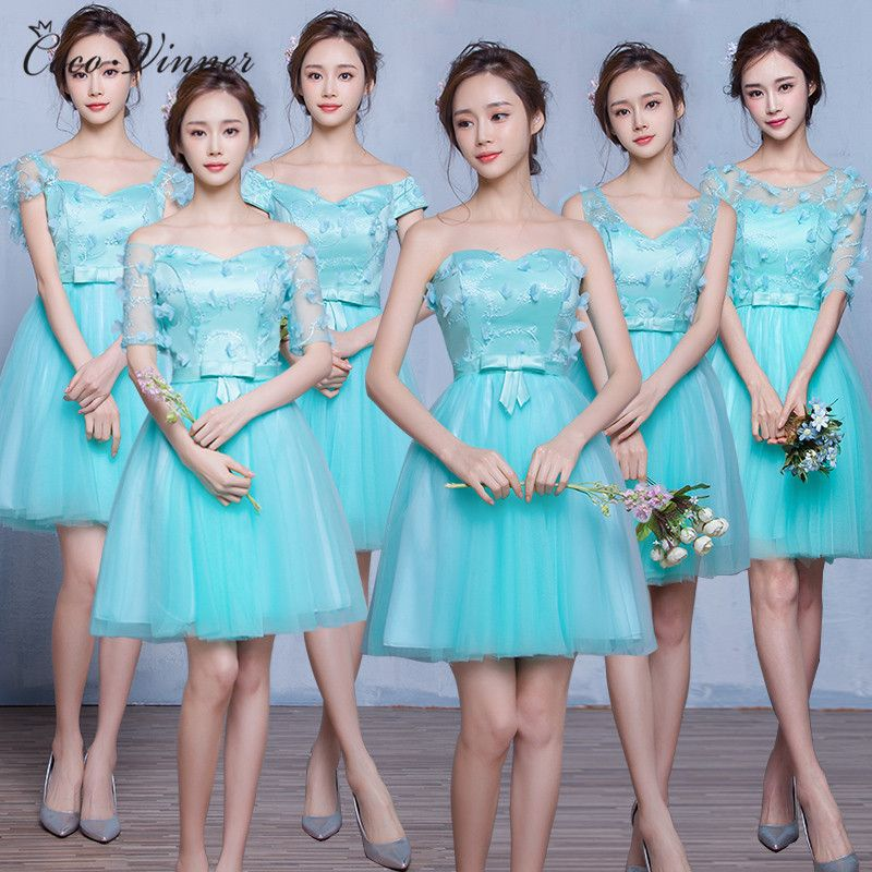 C.V 2017 mint green bridesmaid dresses spring and summer new ...
