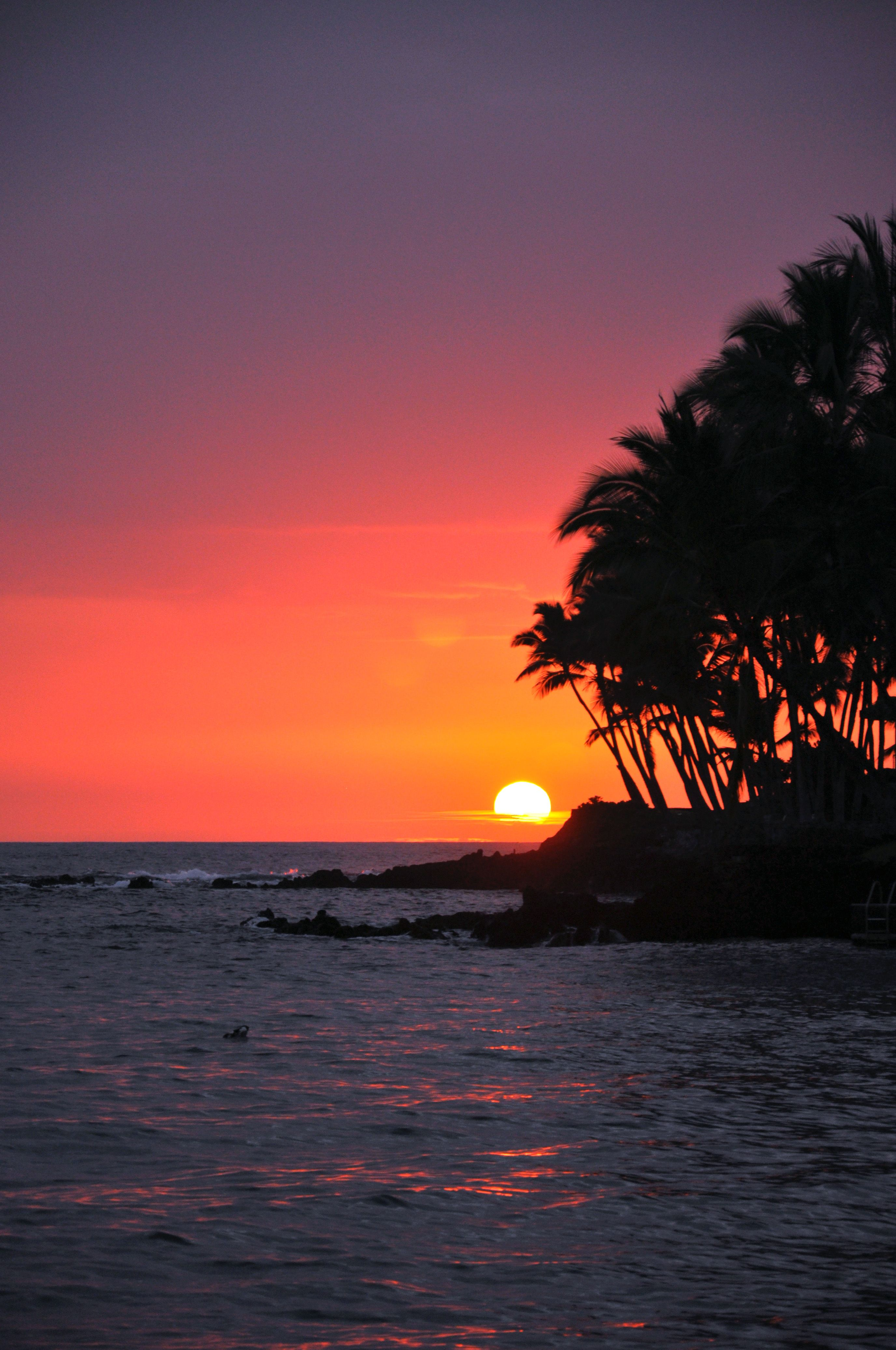 Big Island Sunset, Hawaii Sunset iphone wallpaper