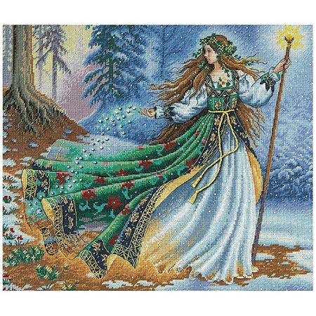 """Dimensions Gold Collection """"Woodland Enchantress"""" Counted Cross Stitch Kit, 14"""" x 12"""""""