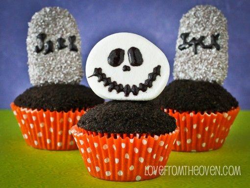 Jack Skellington Nightmare Before Christmas Halloween Cupcakes