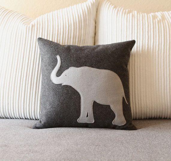 Http Www Etsy Com Listing 91081861 Elephant Felt Pillow Cover Felt Pillow Elephant Pillow Pillows