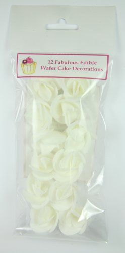 12 White Roses Beautiful Edible Cake Decorations * You can get additional details at the image link.