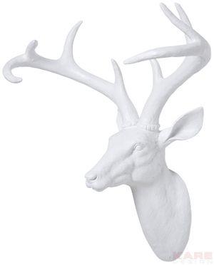 Deco Head Deer White Kare Design Deko Geschenkartikel