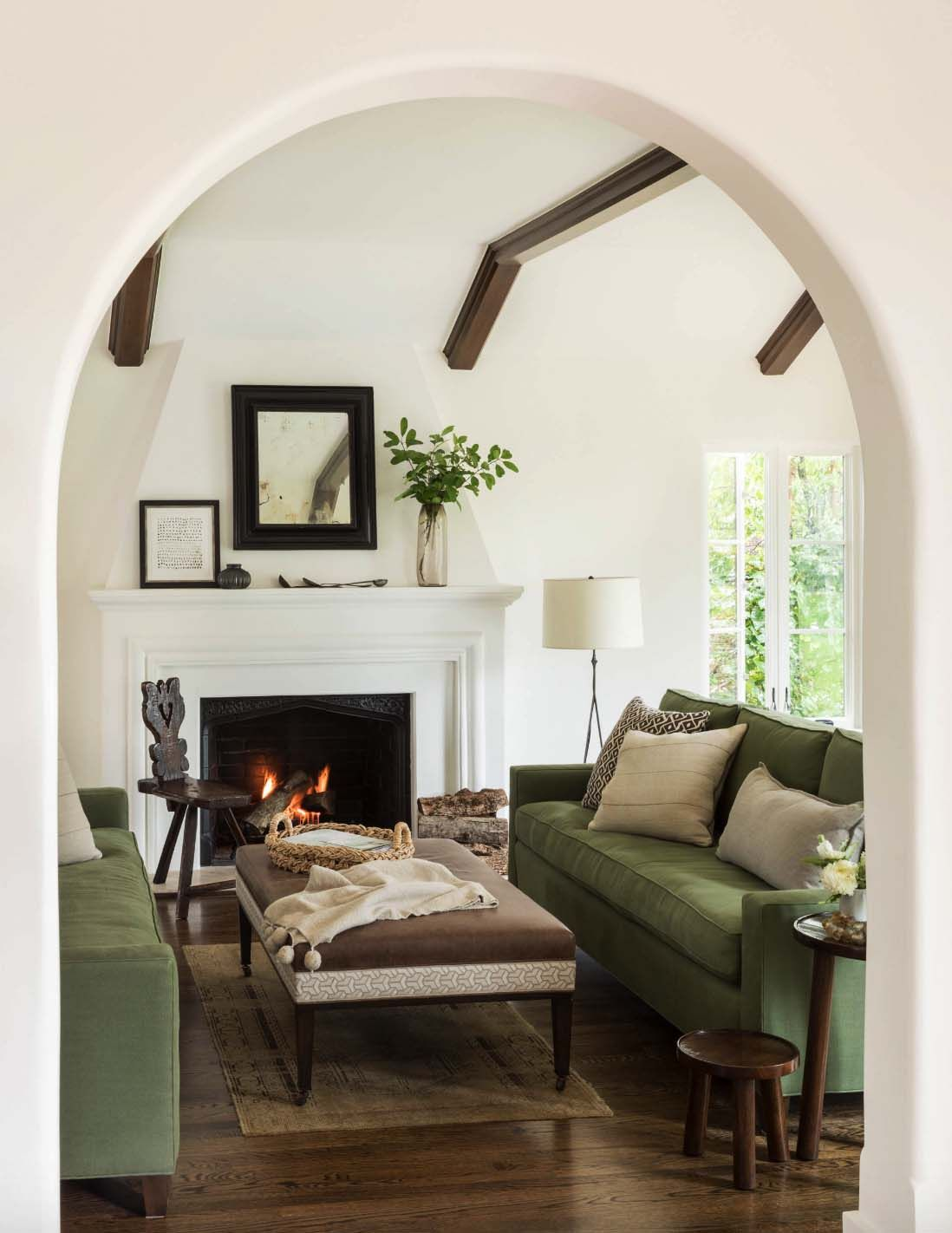 Charming Mediterranean Style Home With Heritage In Northern California Mediterranean Living Rooms Living Room Green Farm House Living Room