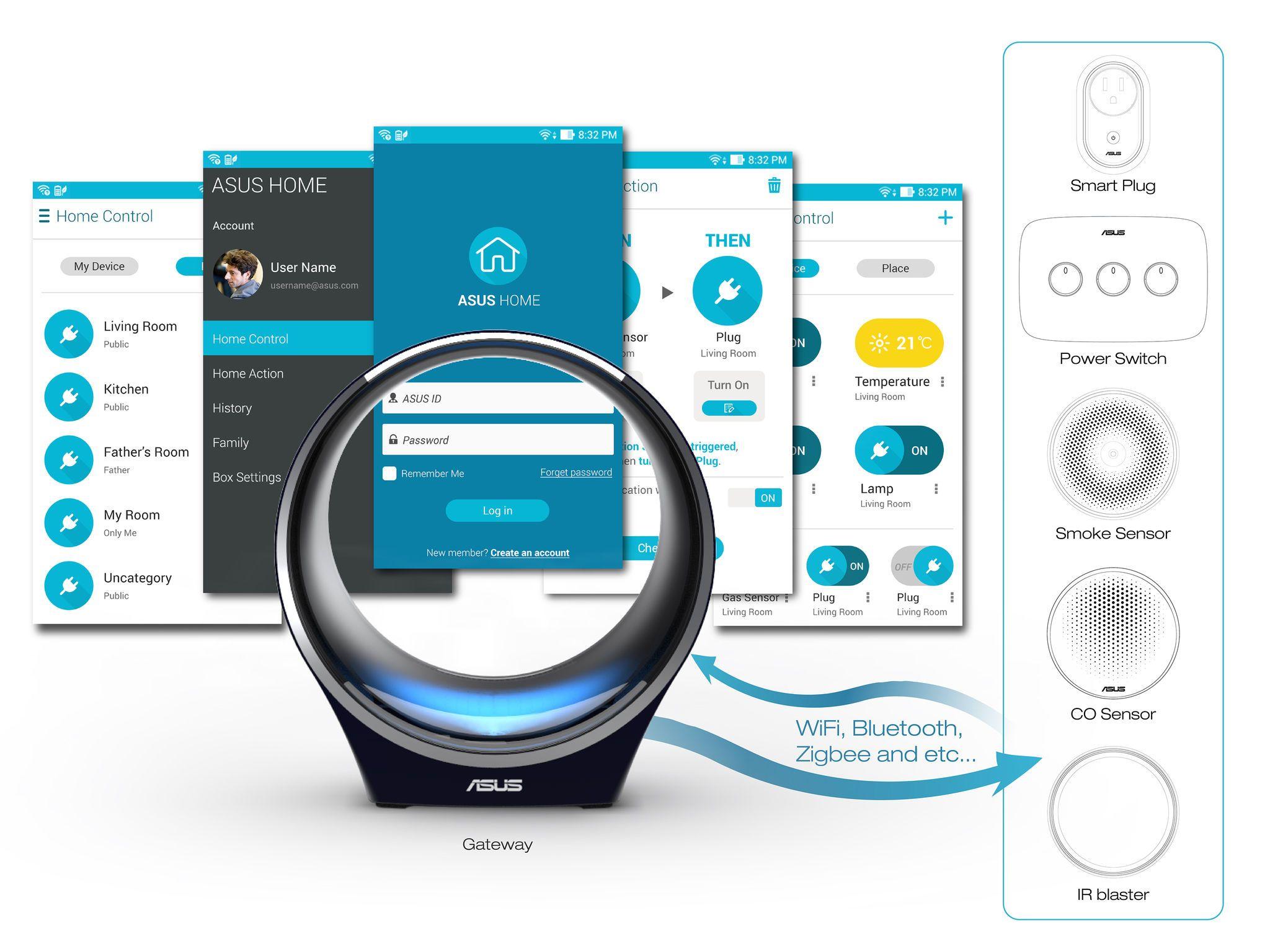 ASUS Smart Home System | User Interface Design | Pinterest ...