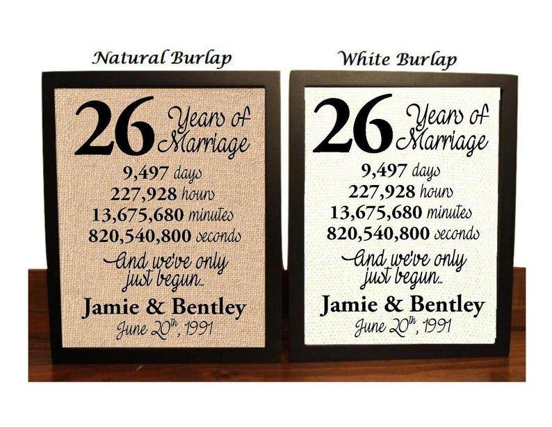 26th Wedding Anniversary 26 Year Wedding Anniversary 26th Etsy 17th Anniversary Gifts 11th Anniversary Gifts 21st Anniversary Gifts