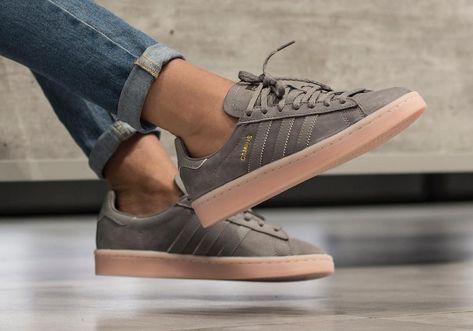 adidas campus grise femme