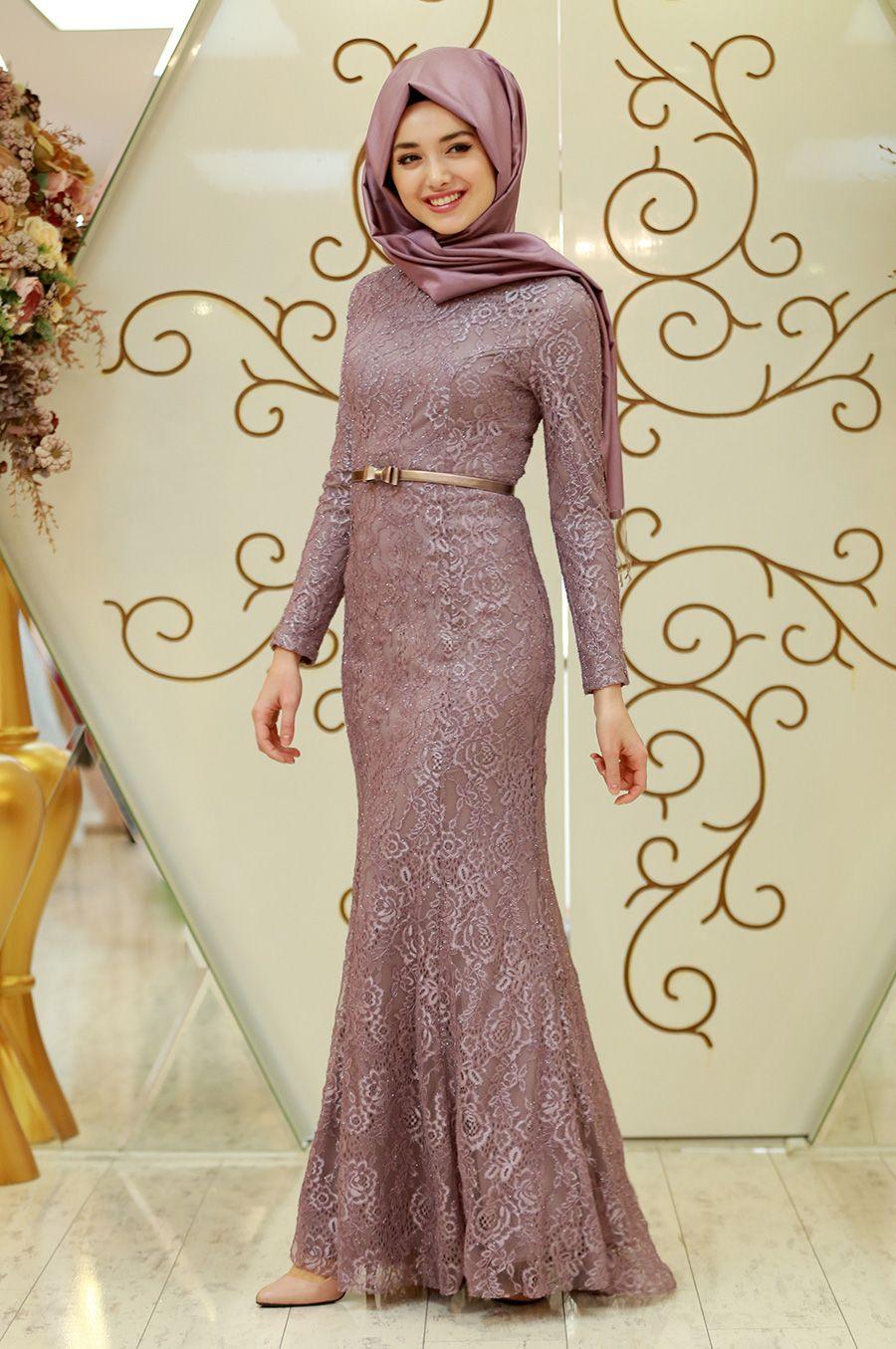 Gamze Ozkul Tesettur Balik Abiye Elbise Modelleri Dantel Elbise Elbise Elbise Modelleri