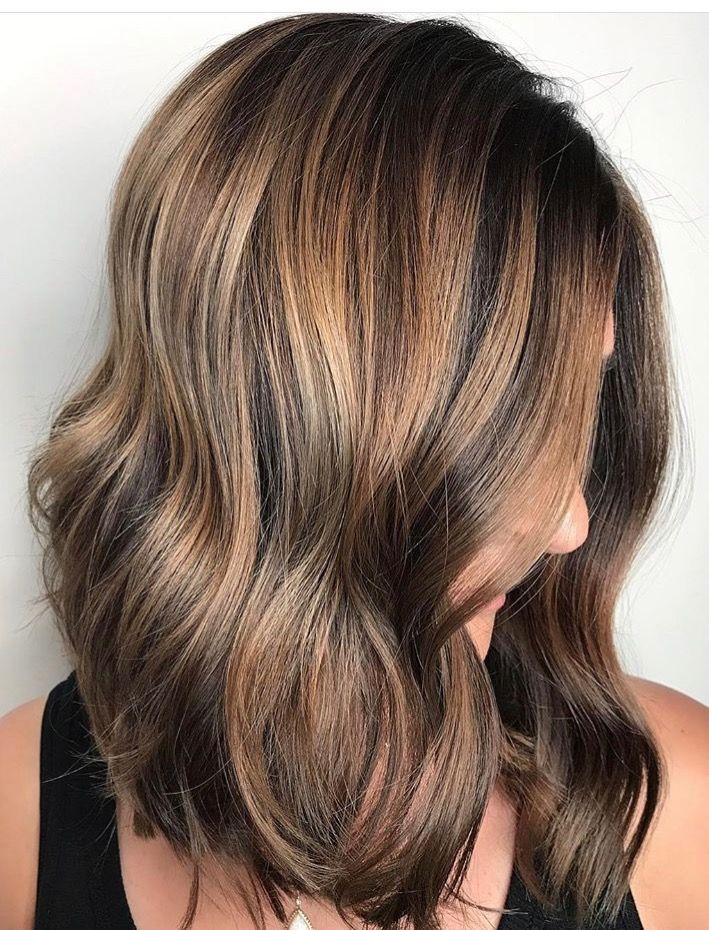Summer Sun Kissed Brunette Bayalage Stephanie Stylist Brown Bayalage Hair Sunkissed Hair Brunette Summer Hair Color