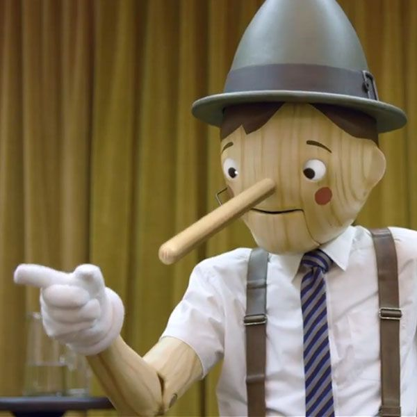 Geico Pinocchio Bad Motivational Speaker Commercial Gym Humor