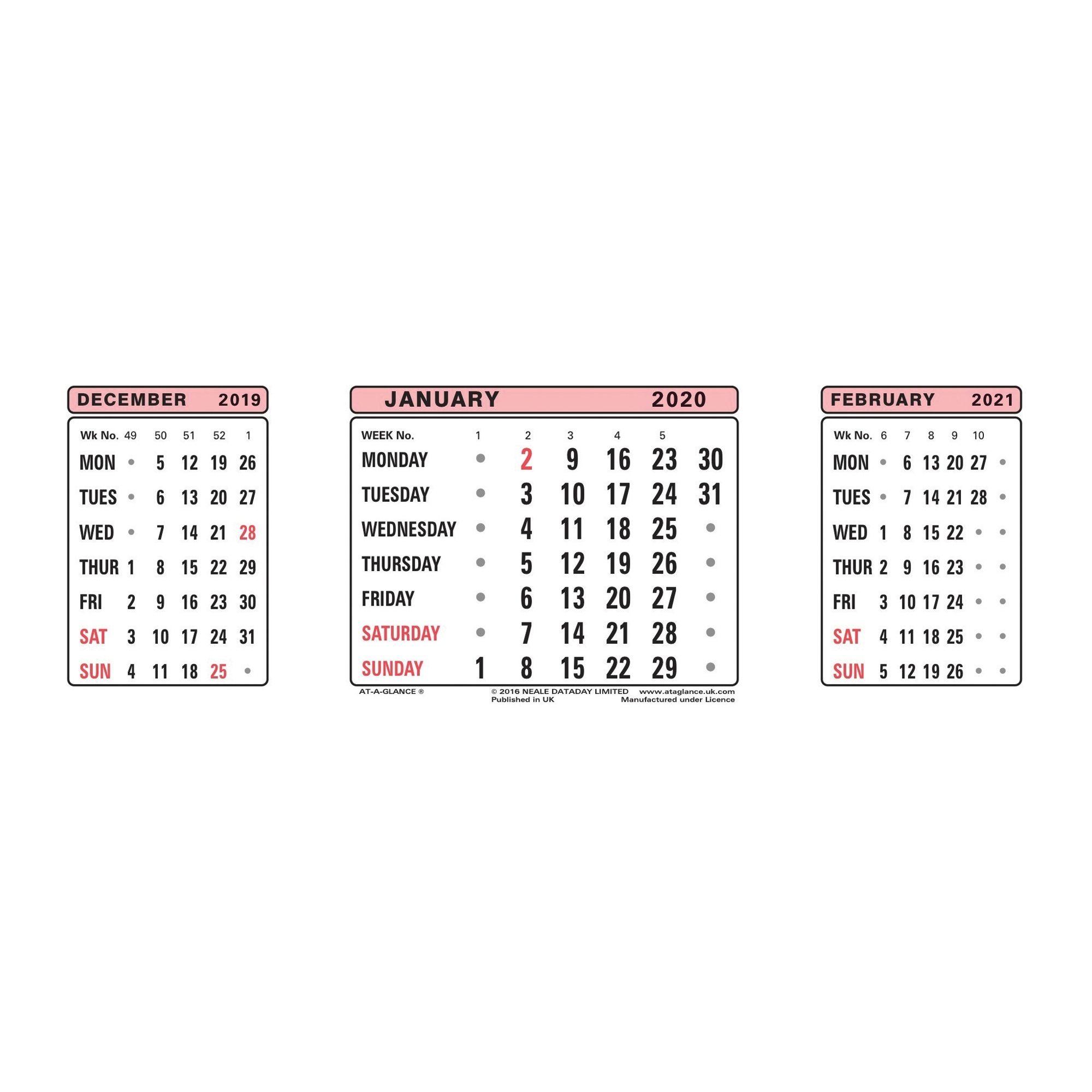 Calendars Office Range Di 2020