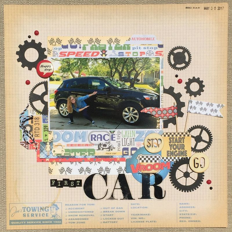First+Car Scrapbook Layout Used Carta