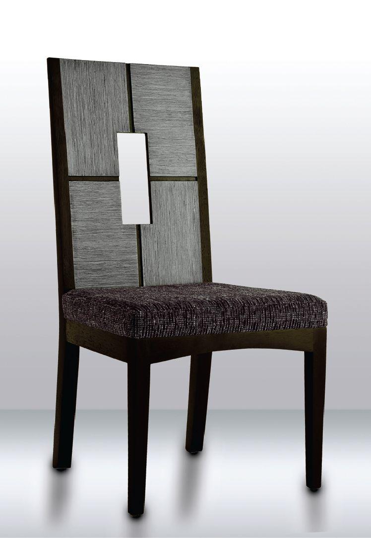Gray chair, Made in Oak & Black Walnut.