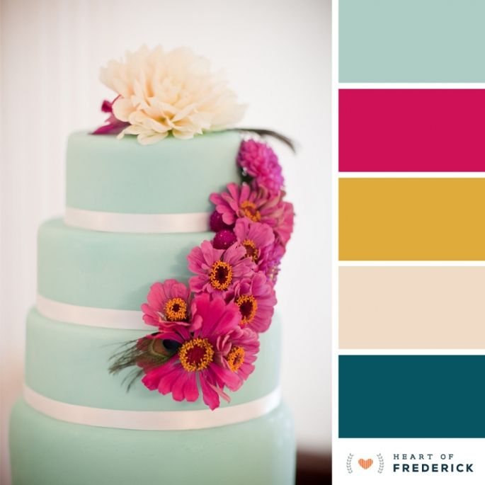 Color palette late summer heart of frederick color for Summer wedding color palette