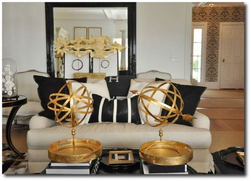 Black And White Decorating Hollywood Regency Dramatic Interiors