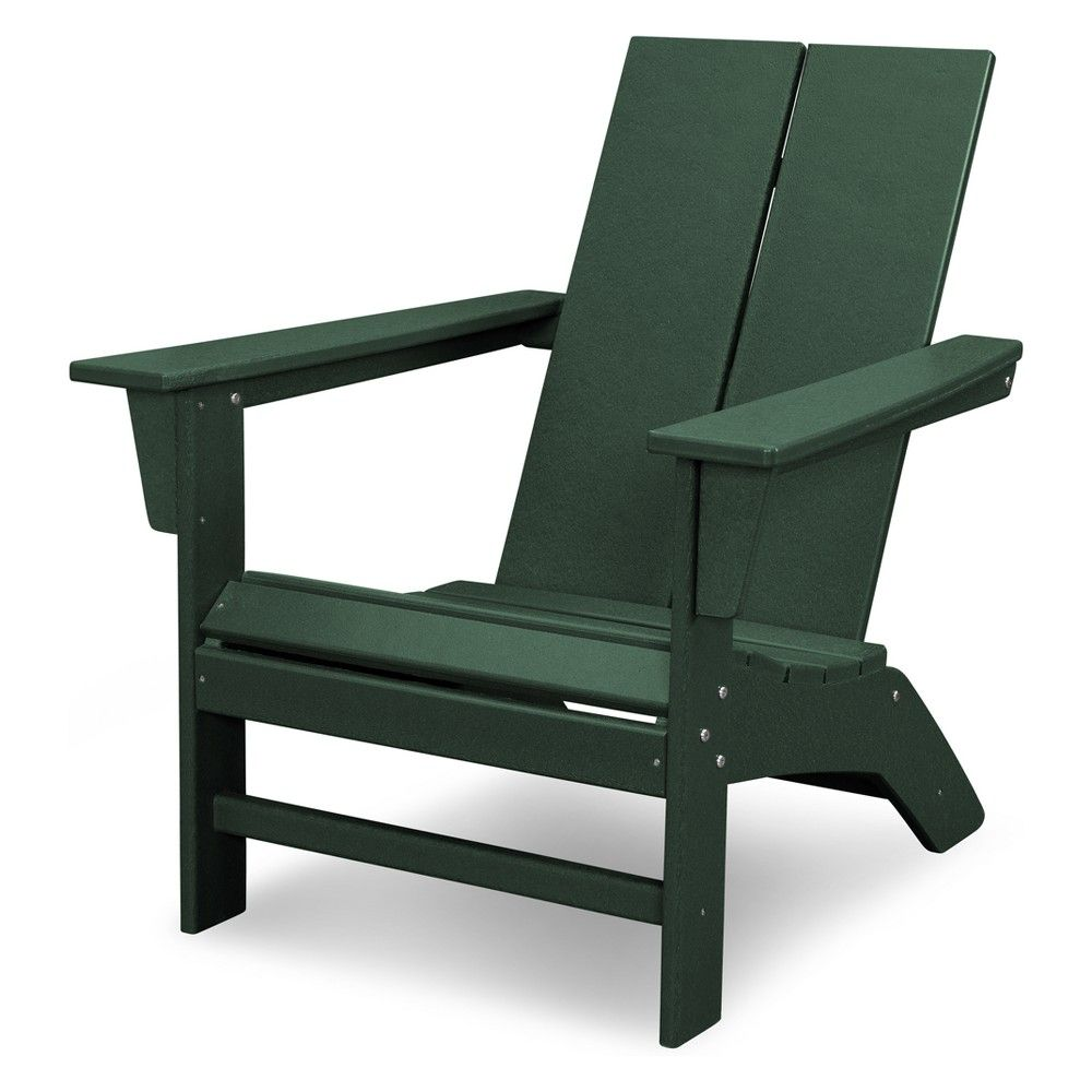 St Croix Contemporary Adirondack Chair Green Polywood 311