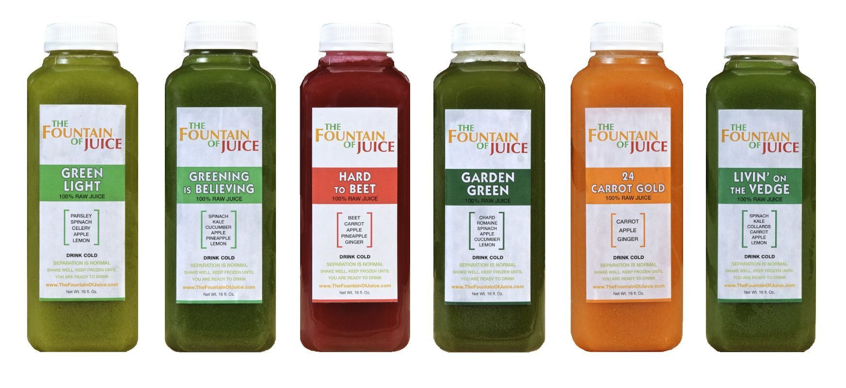 100 raw juice going green cleanse cold pressed no hpp 1 day the fountain of juice 100 raw juice going green cleanse cold pressed malvernweather Gallery