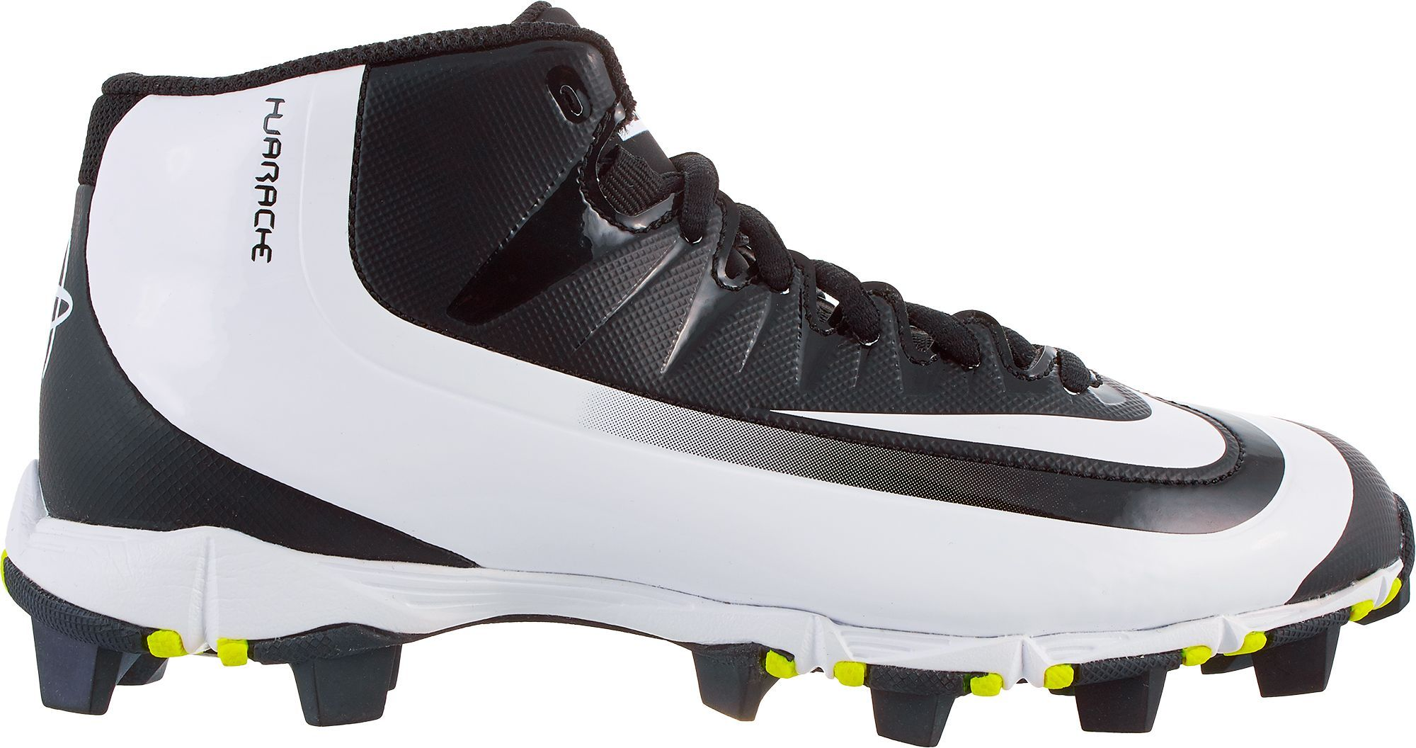 new product efb61 b0195 Nike Kids  Huarache 2KFilth Keystone Mid Baseball Cleats, Kids Unisex,  Size  4.0, Black