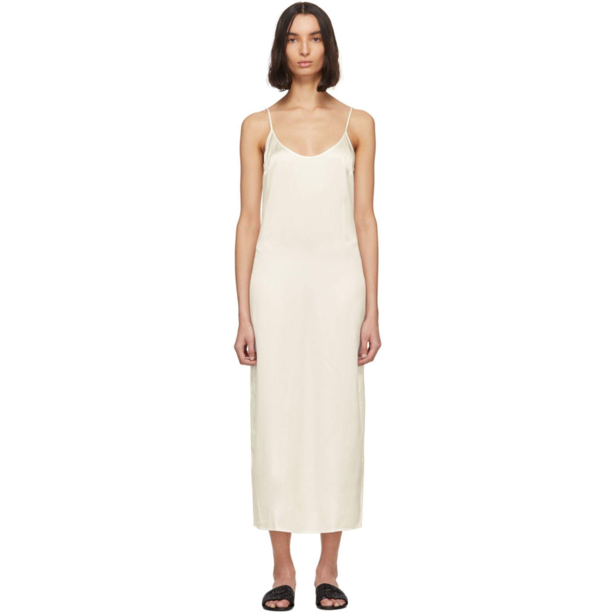 La Perla Off White Silk Slip Dress Ssense Slip Dress Silk Slip Dress Silk Slip [ 2040 x 2040 Pixel ]