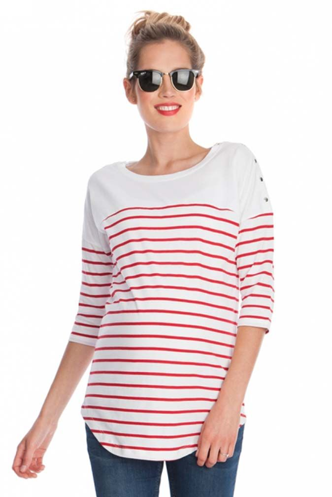 Seraphine Jillian Breton Stripe Maternity Nursing Top - I HAVE A SIMILAR SWEATER FROM ANN TAYOR LOFT A FEW YEARS AGO (FROM FIRST PREGNANCY)