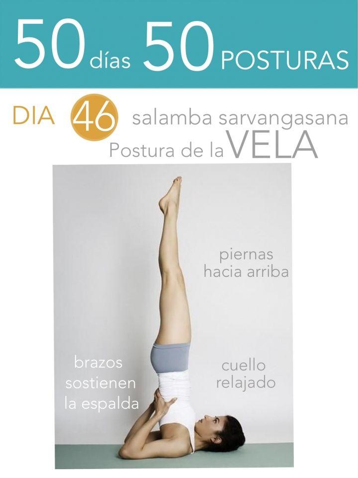 ૐ YOGA ૐ ૐ ASANAS ૐ ૐ Salamba Sarvangasana ૐ50 días 50 posturas. Día 46. Postura de la Vela.
