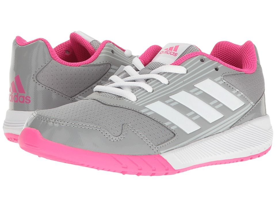 reputable site b1d6c b1666 adidas Kids AltaRun (Little KidBig Kid) Girls Shoes Clear GreyWhiteShock  Pink