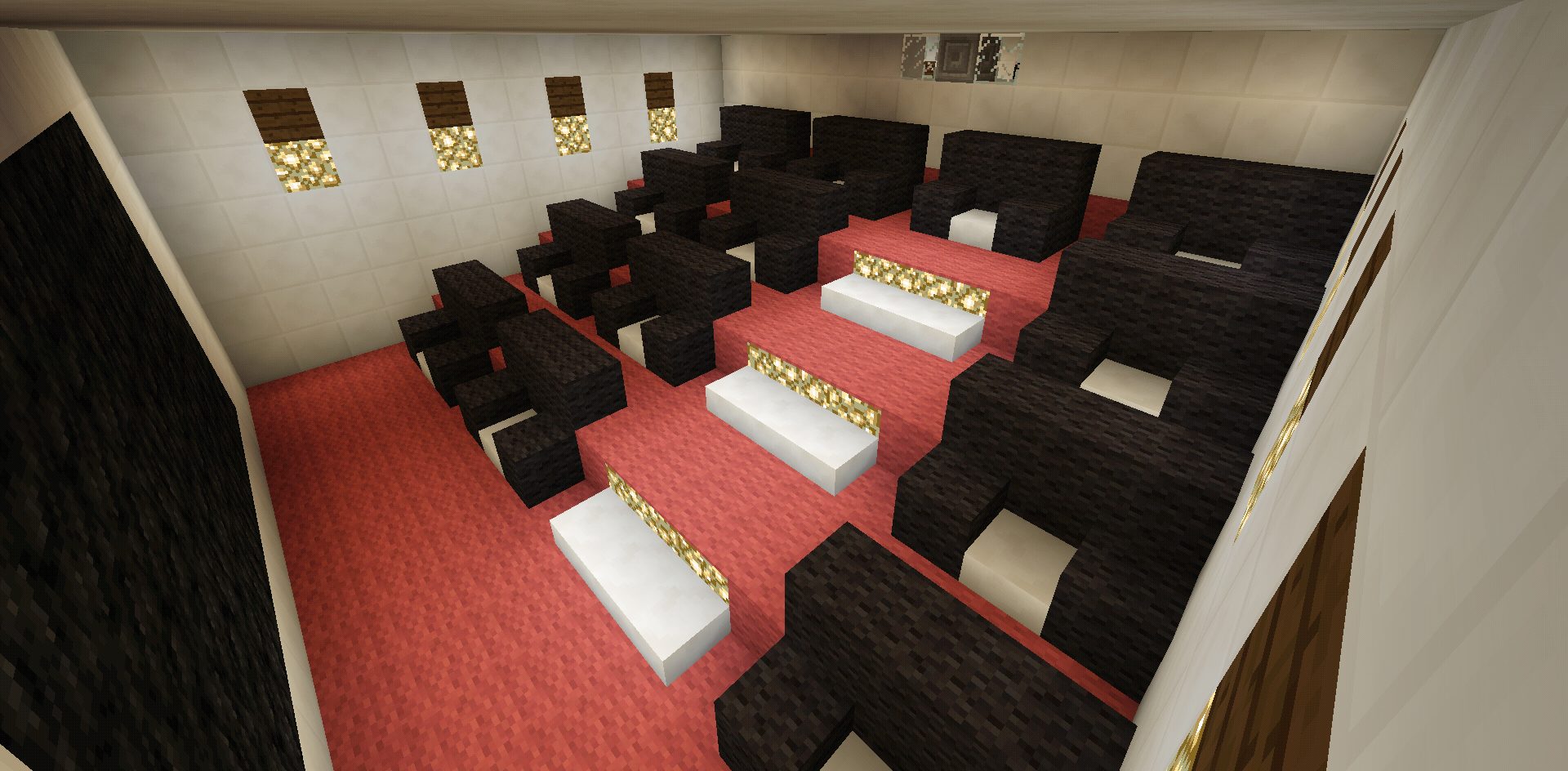 Minecraft home movie theater entertainment room creations minecraftfurniture also rh pinterest