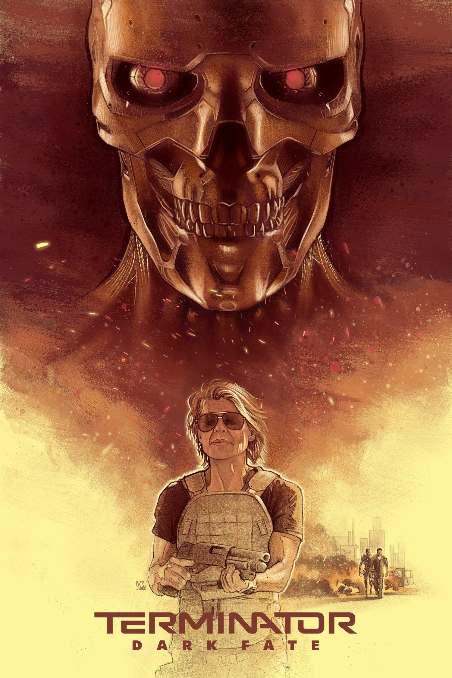 Poster Filma Terminator Tyomnye Sudby Terminator Fate Movie Terminator Movies