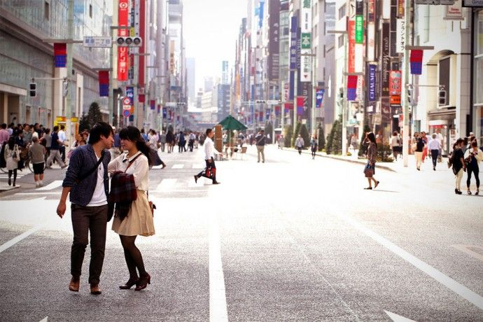Pedestrian only streets in Tokyo