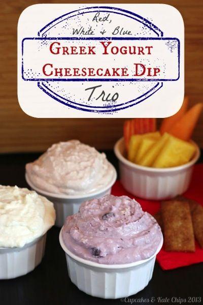 Red White And Blue Greek Yogurt Cheesecake Dips Recipe Desserts Greek Yogurt Cheesecake Dessert Recipes