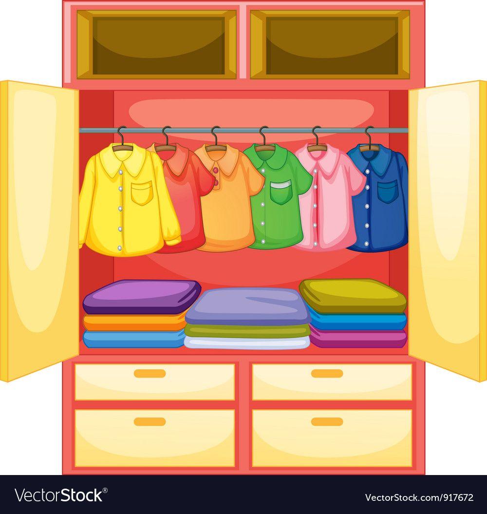 Empty wardrobe vector image on Ребенок, Детский сад