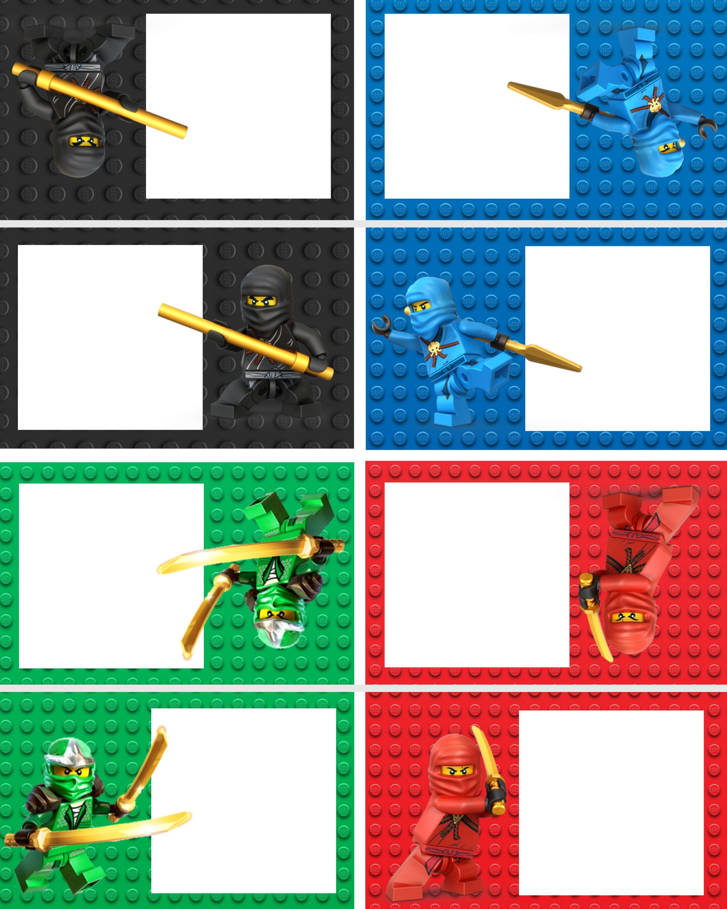 ninjago food labels | ninjago birthday | pinterest | ninjago, Einladungen