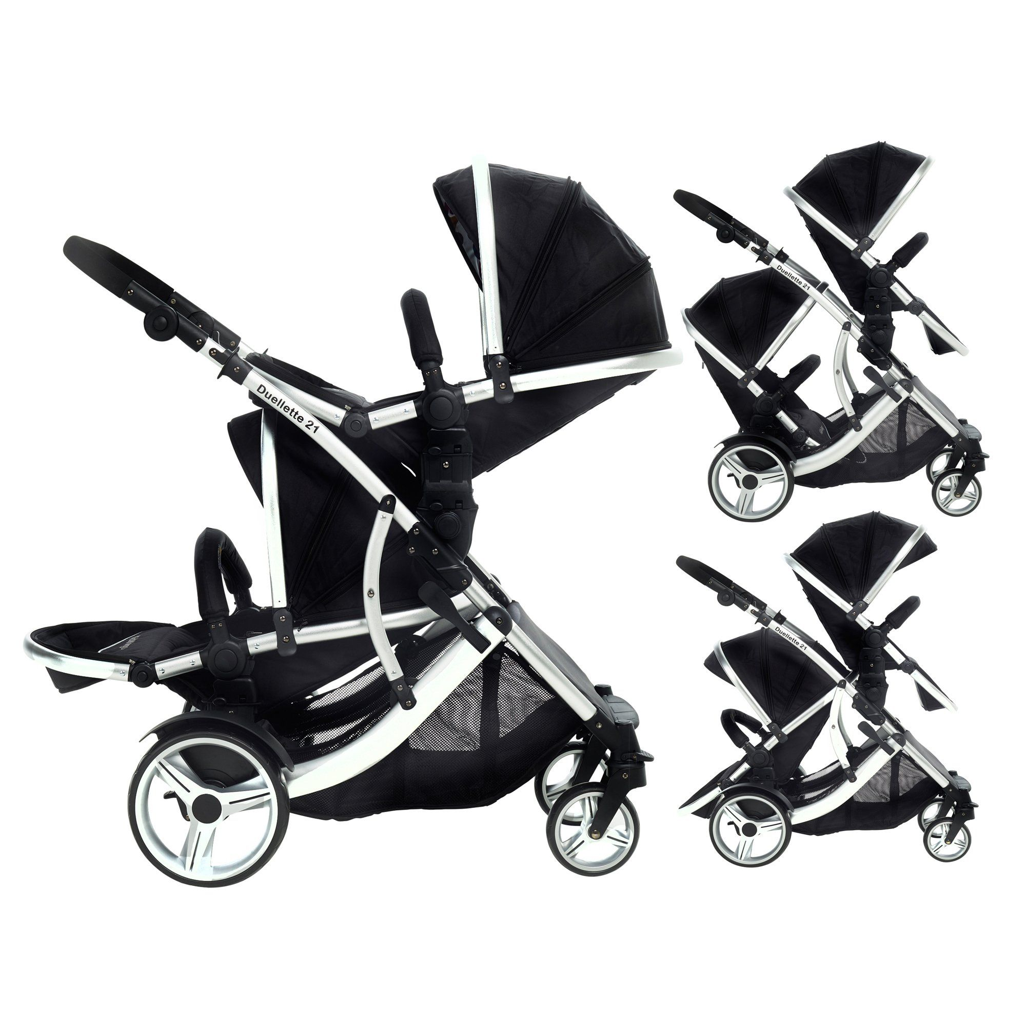 DUELLETTE BS Twin Double Pushchair Tandem Stroller buggy 2
