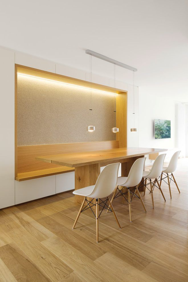 50 Strikingly Modern Dining Rooms That Inspire You To: Built In Wall Bench Dining Room Modern With Goldene Wand