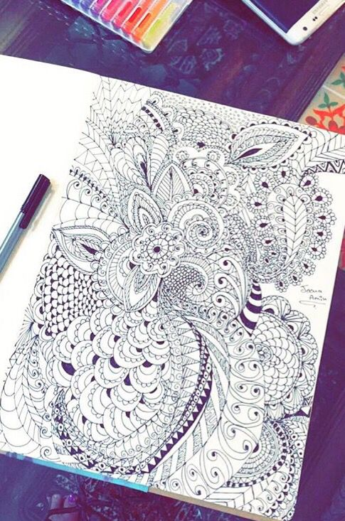 Zentangle doodling