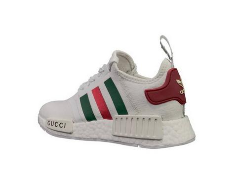 5bd32c0470a5 Adidas NMD R1 X Gucci Primeknit White Green Real 2018 Shoe ...