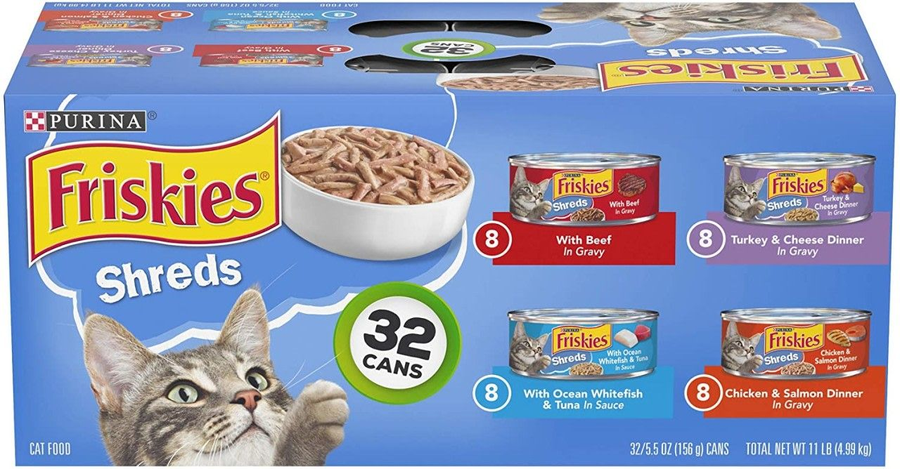 Friskies Canned Wet Cat Food 32 Count Pack Only 11 35 Become A Coupon Queen In 2020 Purina Friskies Wet Cat Food Cat Food