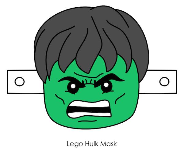 Printable Halloween Masks Lego Hulk Printable Halloween Masks Hulk Mask