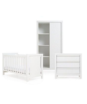 Mothercare Bayswater 3 Piece Nursery Furniture Set White