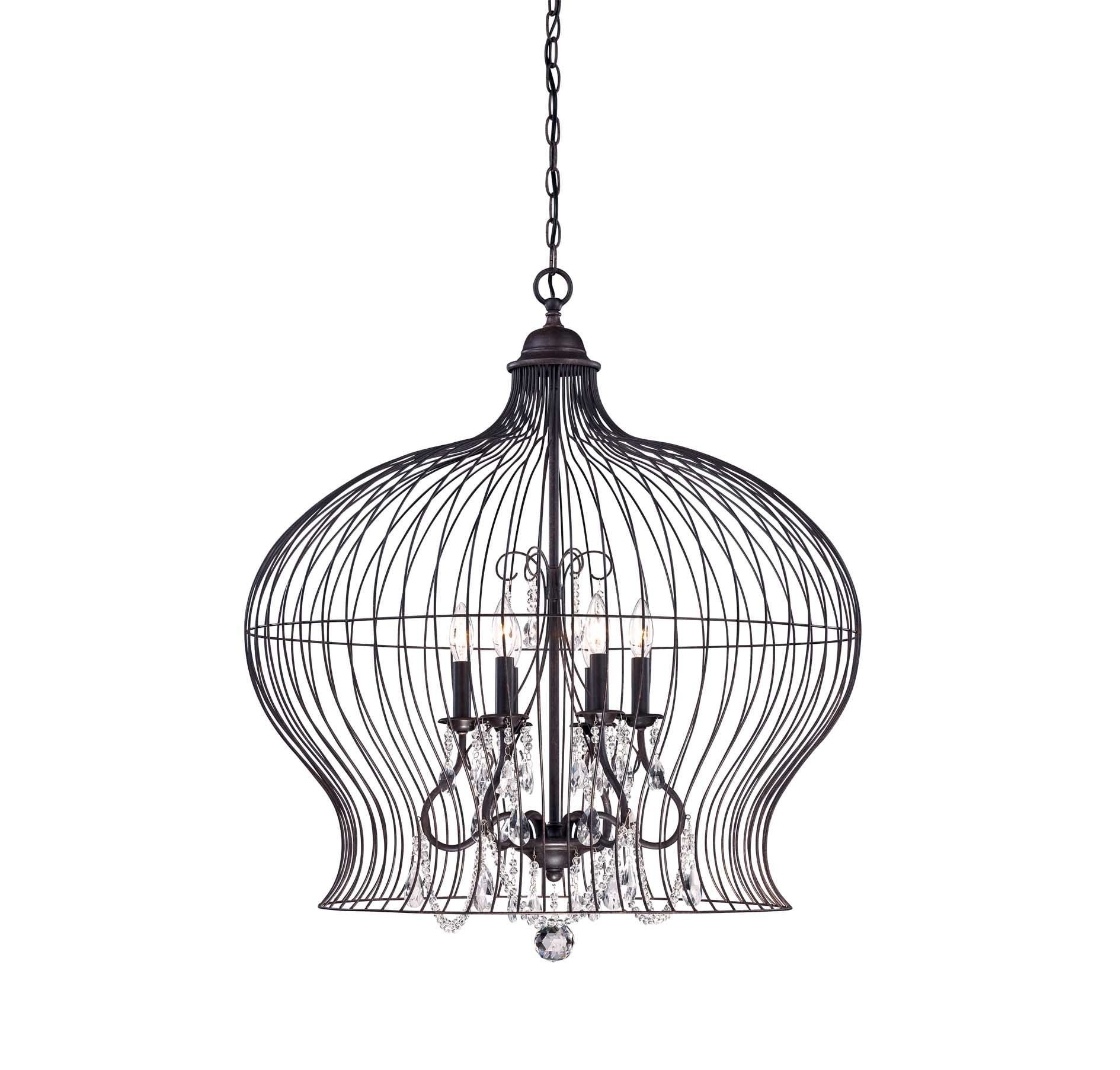 sweet home bird cage pendant light metal base premium material