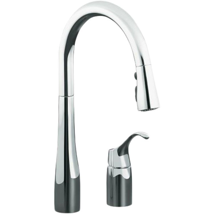 Kohler K-647-CP Simplice Pull-Down Kitchen Faucet - Polished ...
