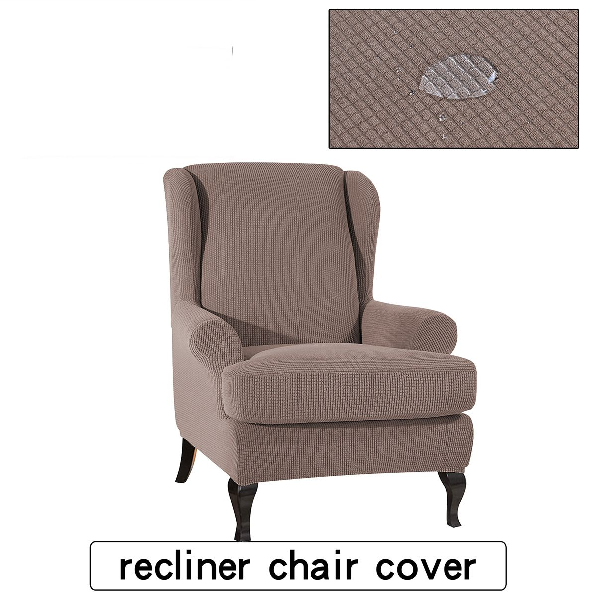 Kadell 2 Piece Stretch Wing Chair Slipcover Furniture Cover