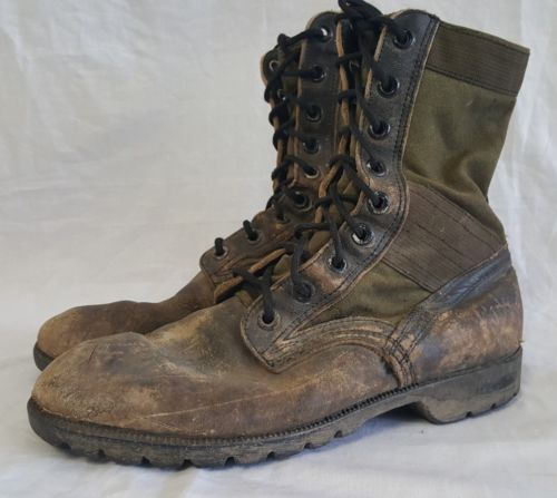 VTG Men's Vietnam War Style Tropical Jungle Boots 8 XW US Army Bata Used